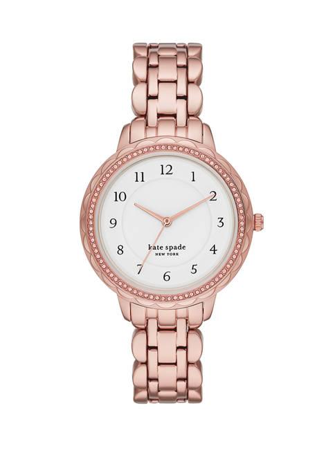 Womens Morningside Rose Gold-Tone Stainless Steel Bracelet Watch
