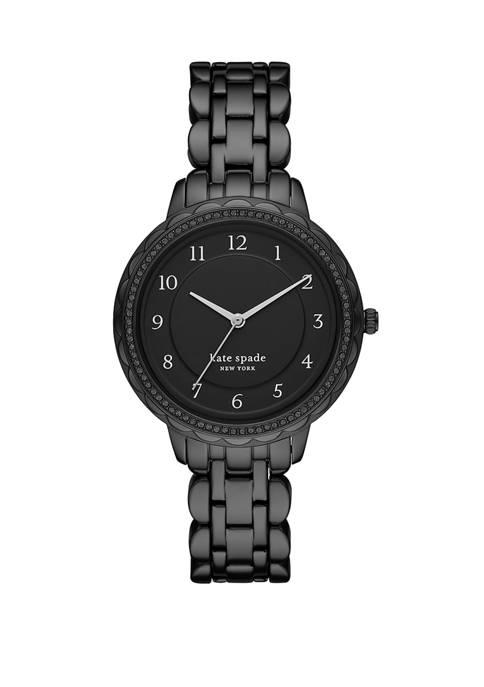 Womens Morningside Black Stainless Steel Bracelet Watch