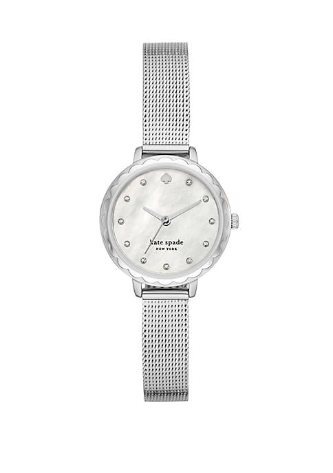 Womens Morningside Three Hand Stainless Steel Mesh Watch