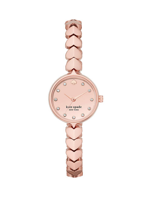 Womens Hollis Three Hand  Rose Gold Tone Stainless Steel Watch