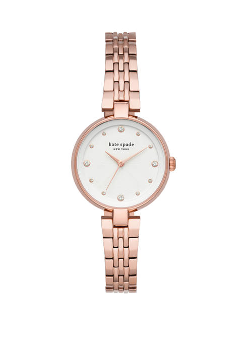 Womens Annadale Three Hand Rose Gold Tone Stainless Steel Watch