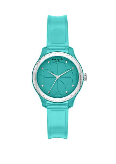 Womens Rosebank Three Hand Green Polyurethane Watch