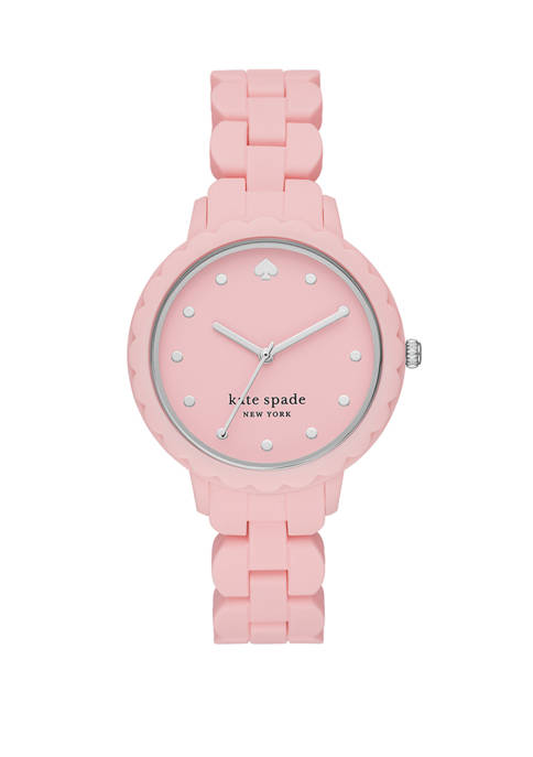 Morningside Three-Hand Pink Silicone Watch
