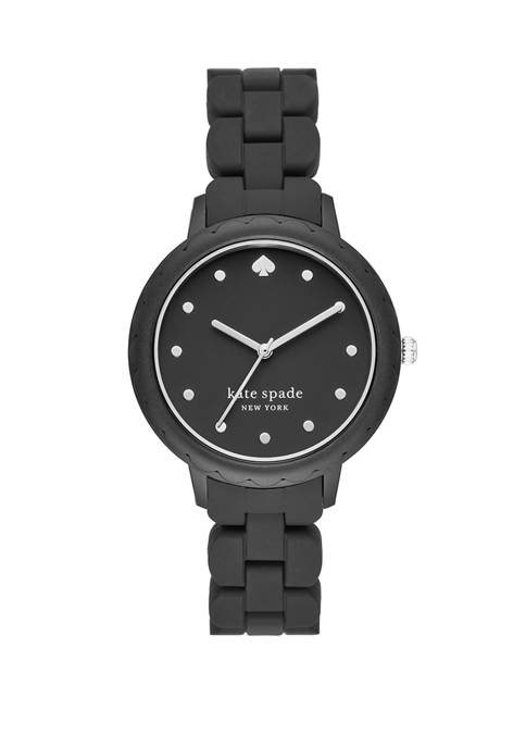 kate spade new york® Morningside Three-Hand Black Silicone