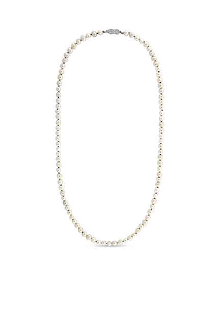 Cole Haan White Pearl Strand Necklace