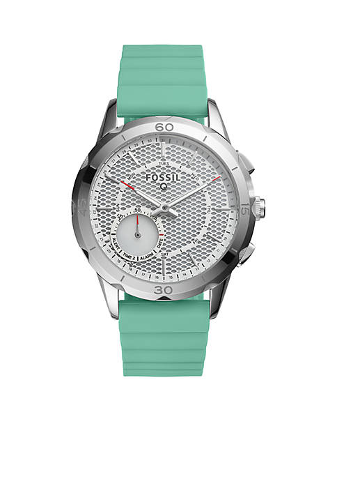 Fossil® Smartwatch Modern Pursuit Mint Green Silicone Hybrid