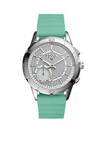 Modern Pursuit Mint Green Silicone Hybrid Smartwatch