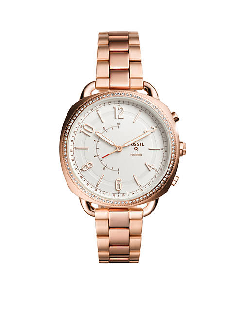 Fossil® Smartwatch Womens Rose Gold-Tone Stainless Steel Q
