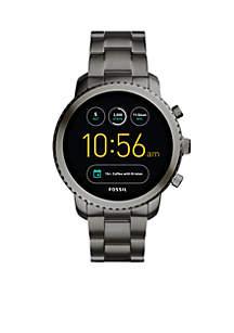 Men's Smoke Stainless Steel Q Explorist Gen 3 Smartwatch