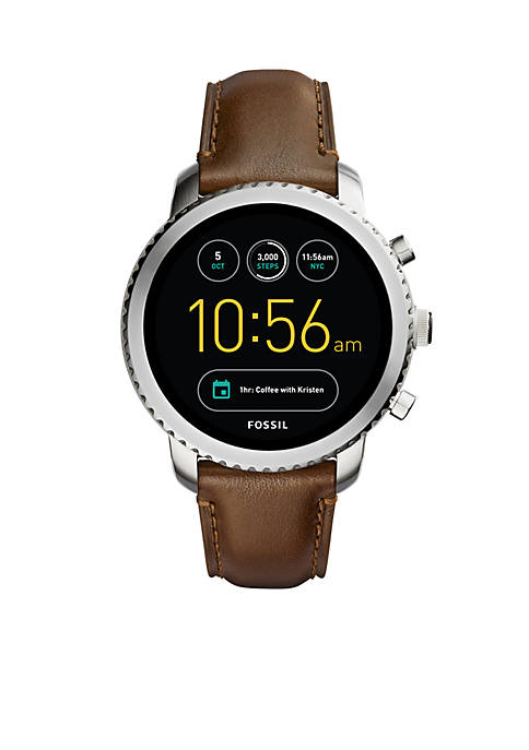 Fossil® Smartwatch Mens Stainless Steel Q Explorist Brown