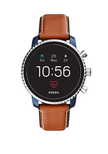 Fossil Q Gen 4 Smartwatch Q Explorist HR Tan Leather