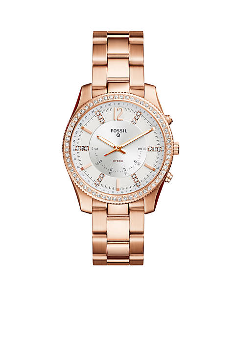 Fossil® Smartwatch Womens Rose-Tone Stainless Steel Q Scarlette