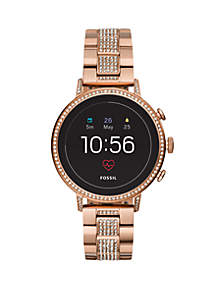 Gen 4 Smartwatch Q Venture HR Rose Gold-Tone Stainless Steel