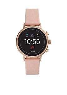 Gen 4 Smartwatch Q Venture HR Blush Leather