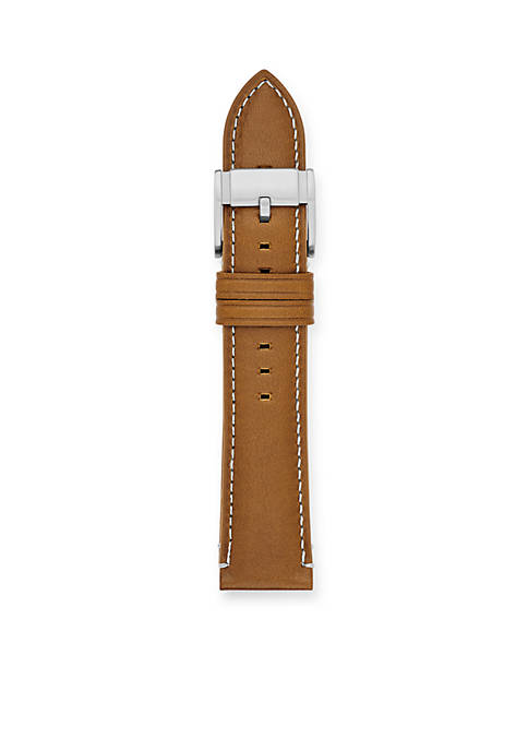 Brown Leather 22-mm. Interchangeable Watch Strap