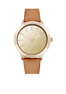 American Exchange Women's Leather Band Watch