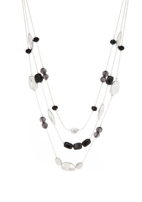 Multi Row Illusion Necklace