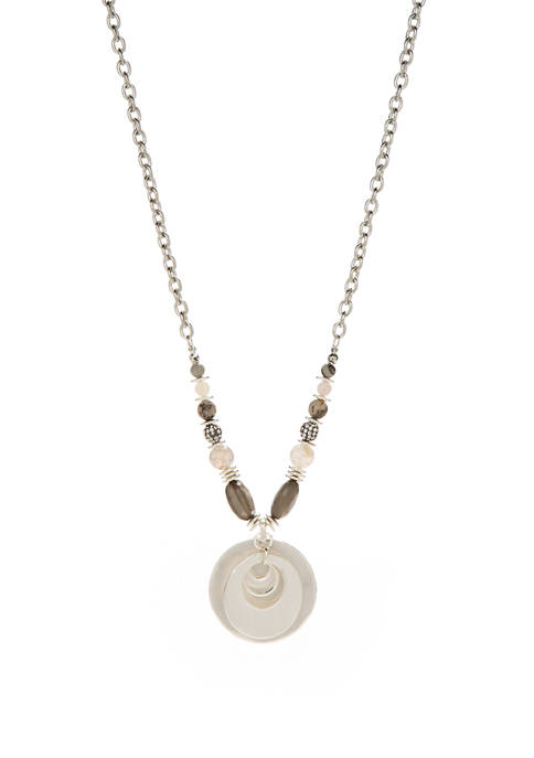 New Directions® Long Bead with Pendant Necklace