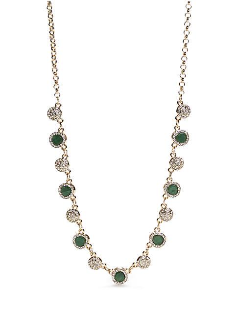 Gold-Tone Halo Collar Necklace