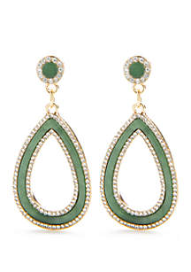 Gold-Tone Open Teardrop Earrings