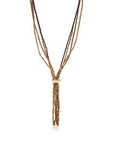 New Directions® Gold-Tone Sparkle and Shine Tassel Pendant Necklace