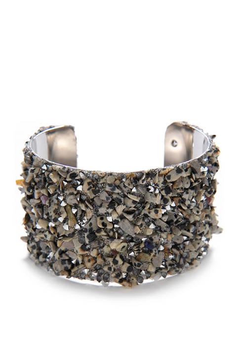 Stone Beaded Cuff Bracelet