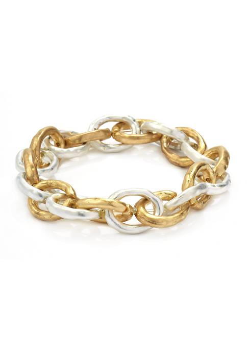 Metal Chain Stretch Bracelet