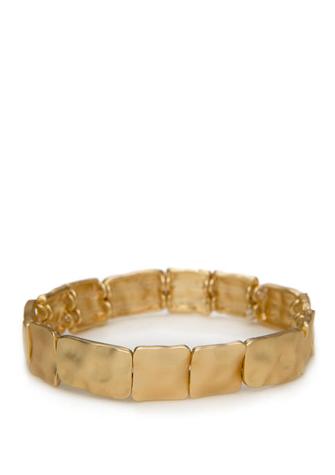 New Directions® Gold Tone Metal Stretch Bracelet
