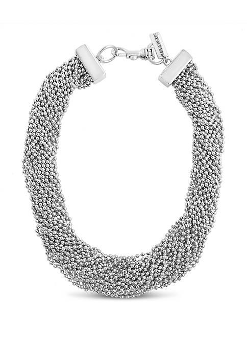 Beaded Interlock Necklace