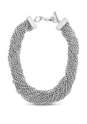 599564c94 Steve Madden Beaded Interlock Necklace ...