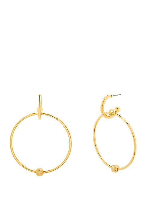 Interlock Hoop Post Earrings