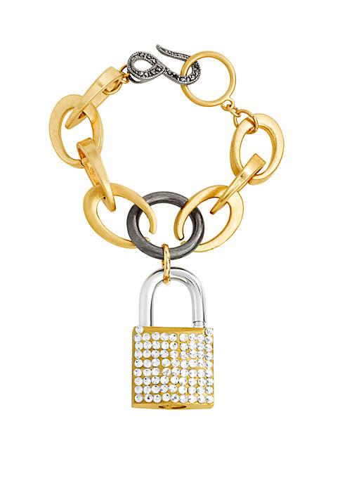 Rolo Link Casted Lock Bracelet