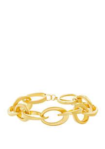 Steve Madden Rolo Bar Link Bracelet