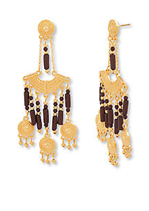 Gold-Tone Stainless Steel Earring