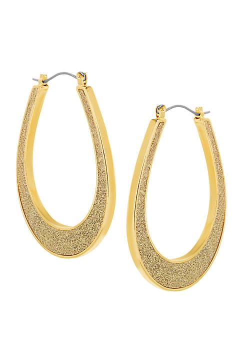 U-Shape Glitter Hoop Earrings