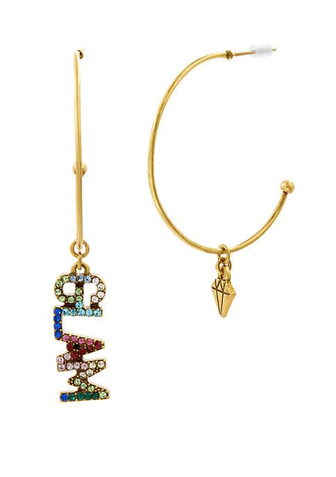 Open Hoop Glam Diamond Earrings