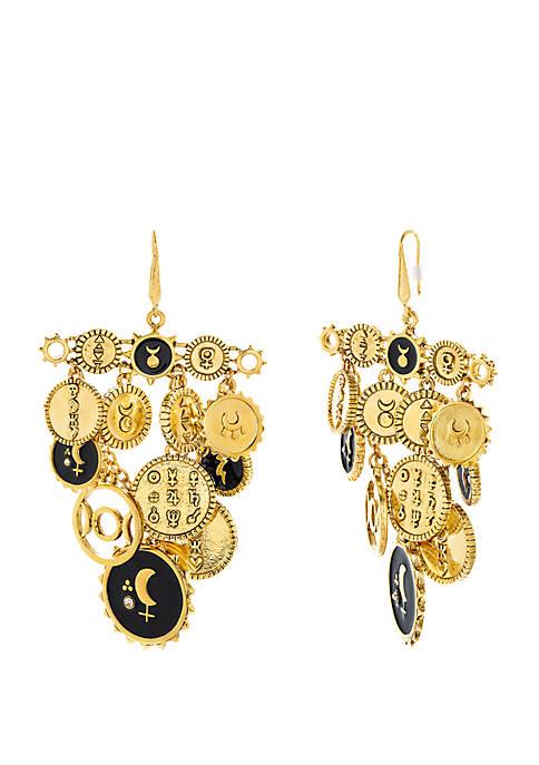 Mini Circle Fringe Earrings