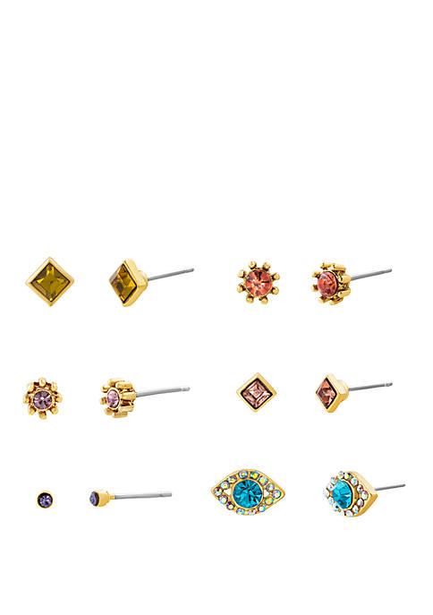 6 Pair Mix Match Earring Set