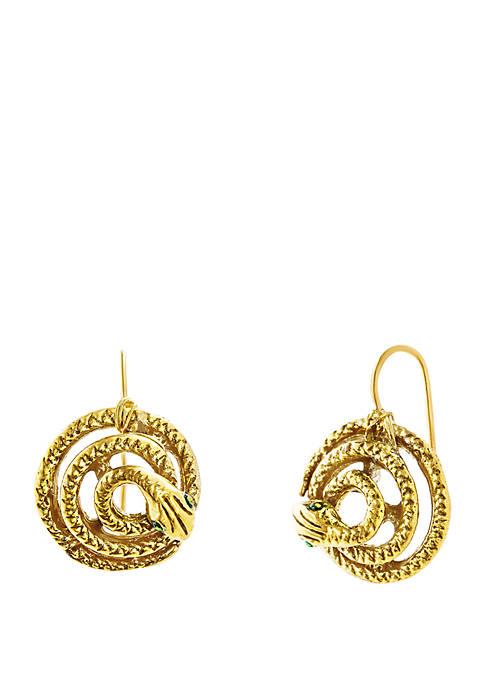 Gold-Tone Snake Earrings