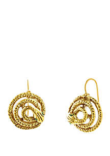 Gold-Tone Snake Earrings