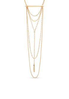 Steve Madden Gold-Tone Stainless Steel Necklace