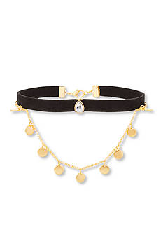 Steve Madden Gold-Tone Stainless Steel Double Layer Choker