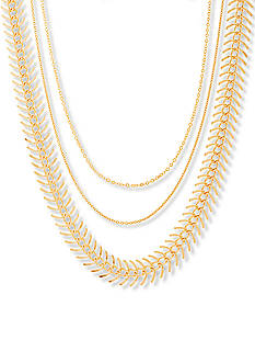Steve Madden Gold-Tone Stainless Steel 3-Piece Chain Choker Set