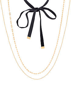 Steve Madden Gold-Tone Stainless Steel 3-Piece Choker Set