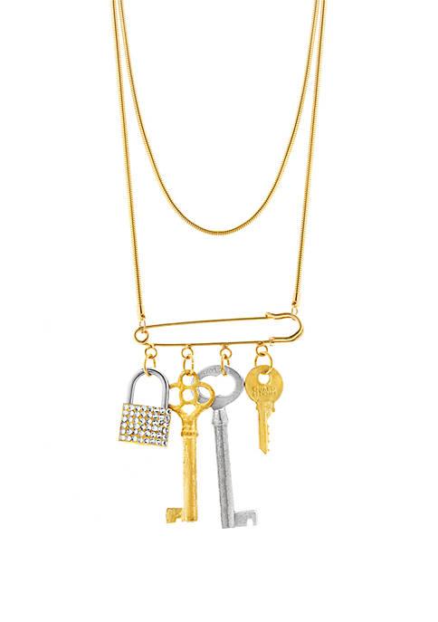 Tubetto Key Lock Pin Necklace