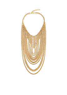 Steve Madden Chain-link Loop Statement Necklace