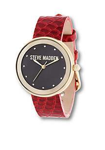 Women's Snake Print Leather Watch
