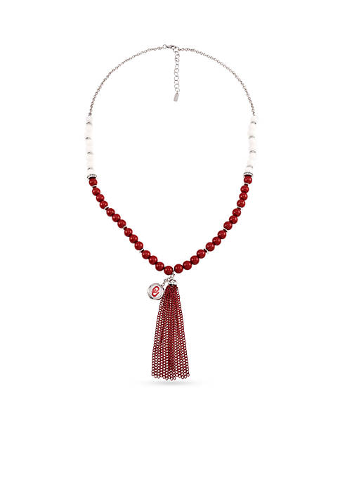 accessory PLAYS® Silver-Tone University Of Oklahoma Sooners Long