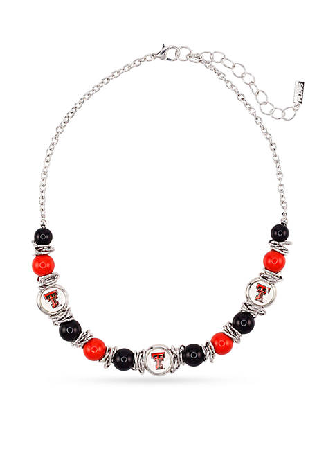 accessory PLAYS® Silver-Tone Texas Tech University Raiders Beaded