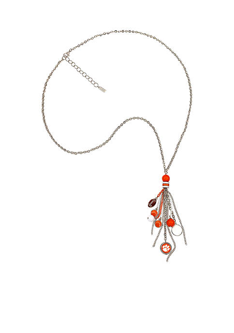 accessory PLAYS® Clemson University Tigers Tassel Fringe Necklace